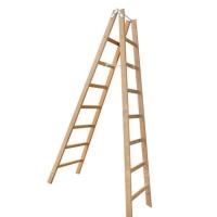 Escada Madeira Extensível 7 Degraus