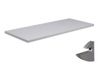 Prateleira Branca 25x60x1,5cm c/Suporte Prata