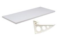Prateleira Branca 25x100x1,5cm c/Suporte Branco