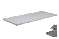 Prateleira Branca 25x100x1,5cm c/Suporte Prata
